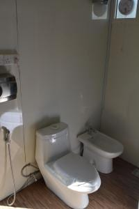 Luxury portable trailer toilets