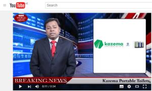 Portable Handwash station video - Breaking news KAZEMA