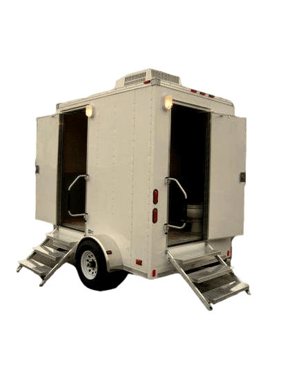 Twin cabin executive trailer toilets for Mobile office trailer with bathroom