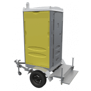 Trailer mounted single toilet