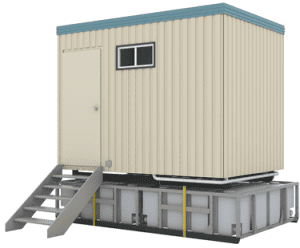 Portacabin prefabricated toilets with large waste tanks