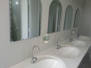 Prefab portacabin toilets interior photo