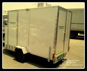 Trailer toilet - Twin cabin with A/C