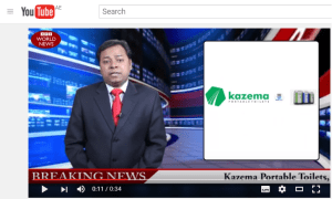 Portable Handwash station video - Breaking news KAZEMA
