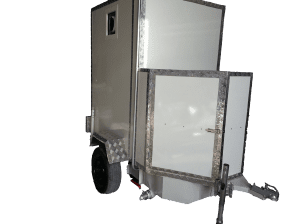Single cabin trailer toilet