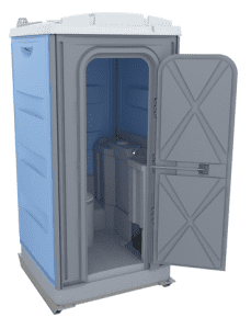 Portable toilet with Freshwater flush and handwash